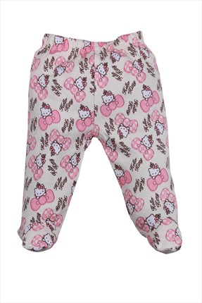 Hello Kitty Pembe Ekru Kız Pantolon