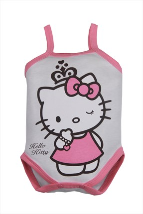 Hello Kitty Ekru Pembe Kız Bebek Body