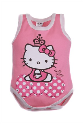 Hello Kitty Pembe Kız Body
