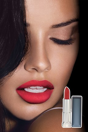 Maybelline Mat Ruj - Color Sensational Creamy Matte 965 Siren in Scarlett