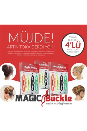 4'lü Sihirli Topuz Tokası Magic Buckle