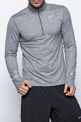 Nike Erkek Sweatshirt - Dri-Fit Element Hz -