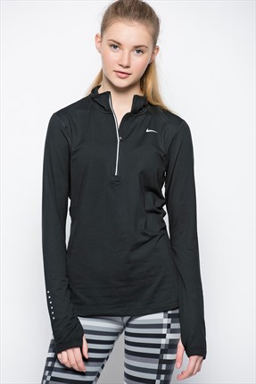 Nike Kadın Sweatshirt - Element Half Zip -