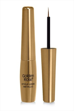 Golden Rose Metalik Sarı Eyeliner - Style Liner Metallic Eyeliner No: 02