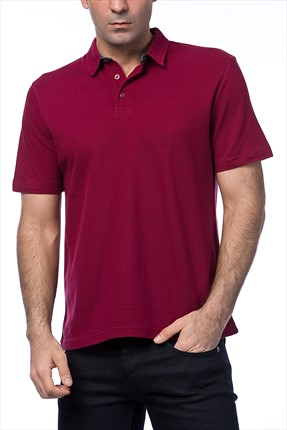 Kiğılı Bordo Polo Yaka T-shirt