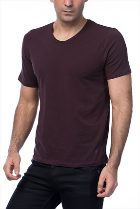 Kiğılı Bordo T-shirt