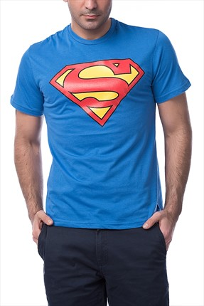 Mightee Erkek Saks Superman T-Shirt