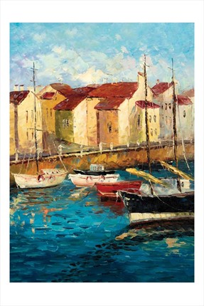 Ks Puzzle Sailboats On Waterfront  500 Parça Puzzle