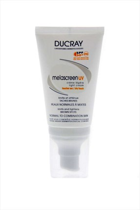Ducray Normal ve Karma Ciltler için Bakım Kremi - Melascreen Uv Spf 50 Light Creme 40 ml