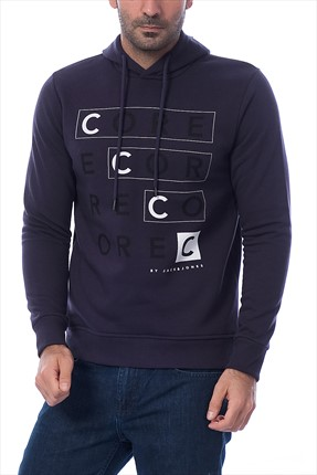Jack & Jones Erkek Sweatshirt - Boosty Core Sweat Hood Crew Neck -