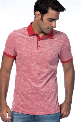 Sateen Erkek Bordo Polo Yaka T-Shirt