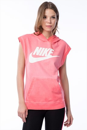 Nike Kadın Sweatshirt - Sleeveless Po Hoody-Wash -