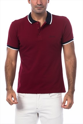 Superlife Erkek Bordo Polo Yaka T-Shirt SPR 696