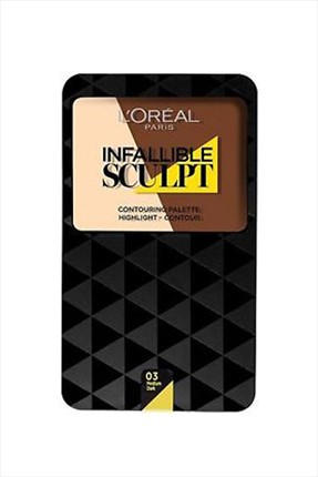 L'Oreal Paris Kontür Paleti - Infallible Sculpt Contouring Palette 03 Medium/Dark