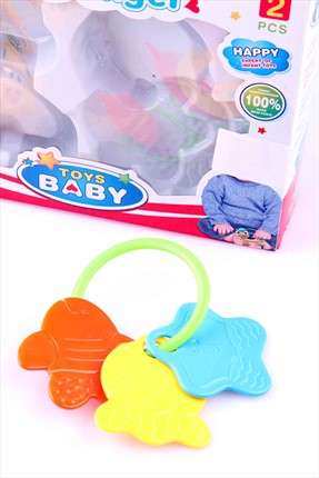 Learning Toys Mirth Angel Toy Baby 2'Li Çıngırak Seti Nur-7788-A12-2