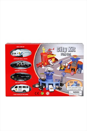 Learning Toys Police Station Diecast Garaj Kit Seti
