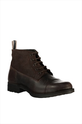 Jack & Jones Bot - Sirca Footwear Leather Mid Boot -
