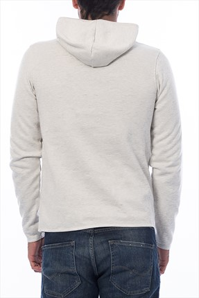 Beyaz Sweatshirt -Roberto Originals Sweat Hood -