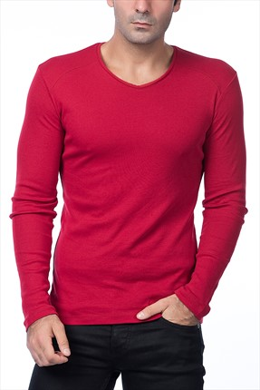 Superlife Erkek Bordo Pamuk Sweatshirt Spr 529