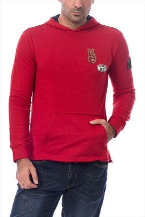 Erkek Bordo Pamuk Sweatshirt SPR 594 Superlife