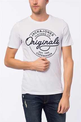 Jack & Jones T-Shirt - Bone Originals Tee SS Crew Neck -