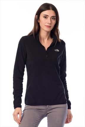 The North Face W 100 Glacier 1/4 Zip Kadın Sweatshirt T92Uavjk3