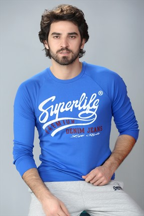 Superlife Erkek Saks Sweatshirt Spr 435