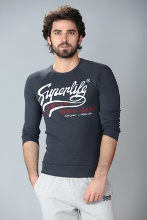 Superlife Antrasit Erkek Sweatshirt Spr 435