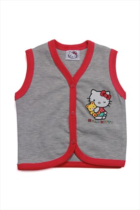Hello Kitty Gri Kız Yelek