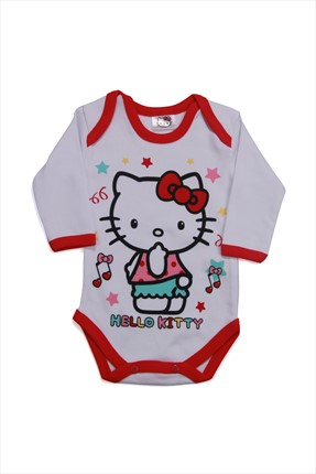 Hello Kitty Beyaz Kız Body