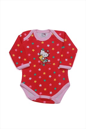 Hello Kitty Fuşya Kız Body