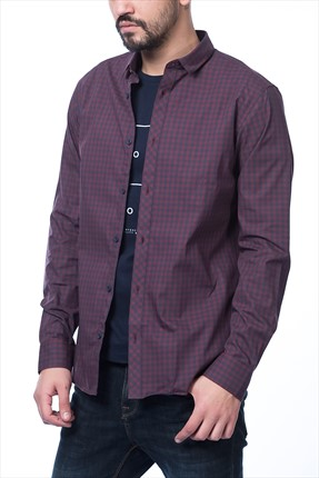 Jack & Jones Bordo Gömlek - Gingham Core Shirt LS -