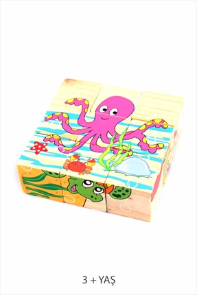 Learning Toys Wooden Puzzle Cubes Kupbl-3