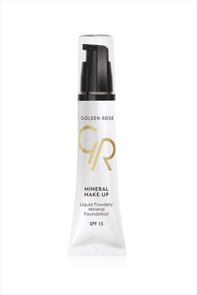 Golden Rose Suya Dayanıklı Fondöten - Liquid Powdery Mineral Foundation No: 12