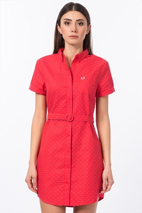 Fred Perry Kadın 151 Polka Dot Belted D6736 Elbise
