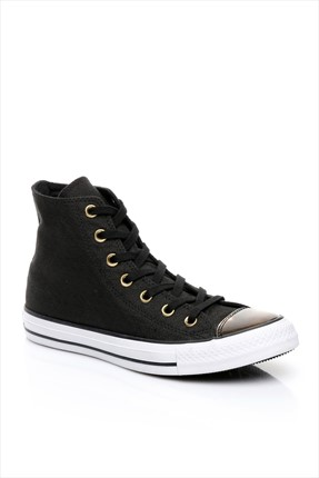 Converse Kadın Chuck Taylor All Star Black/Light Gold/Black Ayakkabı