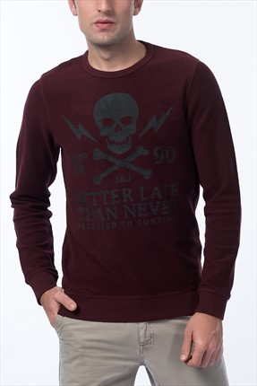 Jack & Jones Sweatshirt - Skull Originals Sweat Crew Neck -