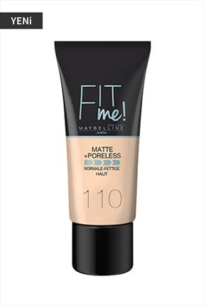 Maybelline Fondöten - Fit Me Matte + Poreless Foundation 110 Porcelain 30 mL