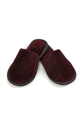 Soft Cotton Platinum Terlik Bordo