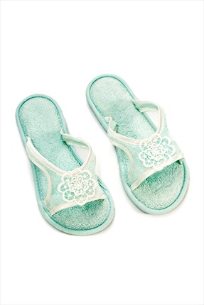Soft Cotton Nil Terlik Mint