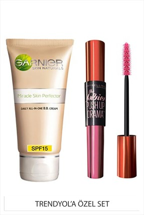 Maybelline Push Up Drama Siyah Maskara & BB Krem Seti