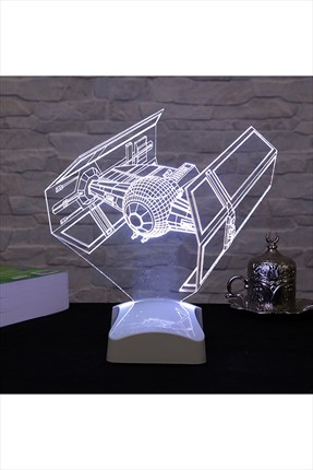 Dekorjinal 3 Boyutlu TIE Fighter Star Wars Lamba