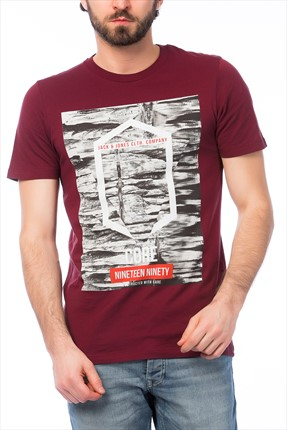 Jack & Jones T-Shirt - Frank Core Tee SS Crew Neck BL -