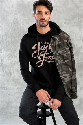 Jack & Jones Sweatshirt - Castro Originals Sweat Hood -