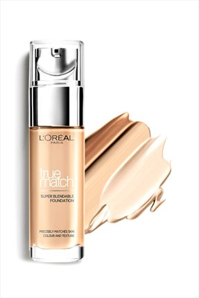 Nemlendirme Etkili Fondöten - True Match Foundation 3D3W Golden Beige 30 ml L'oreal Paris