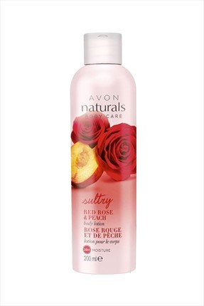 AVON Naturals Red Rose & Peach Vücut Losyonu 200 ml