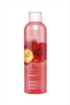 AVON Naturals Red Rose & Peach Duş Jeli 200 ml