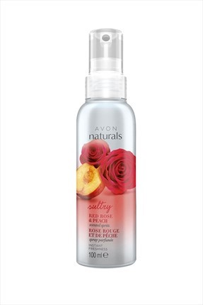 AVON Naturals Red Rose & Peach Vücut Spreyi 100 ml