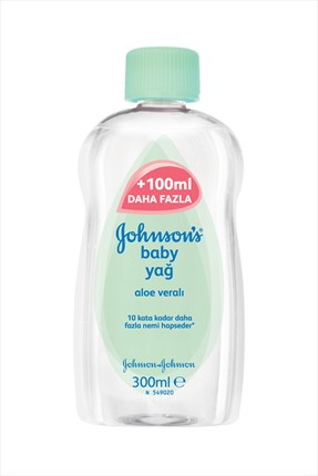 Johnson's Baby Bebek Yağı Aloe vera 300 ml