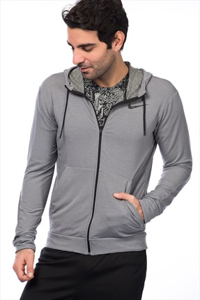 Nike Erkek Sweatshirt - Dri-Fit Training Fleece Fz Hdy